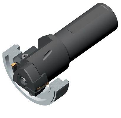 Пример применения 4: Проточка торцевых канавок (радиальная обработка канавок)